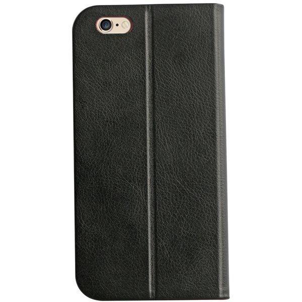 Promate Slit-i6P- nahkakuori iPhone6+ korttipaikka musta