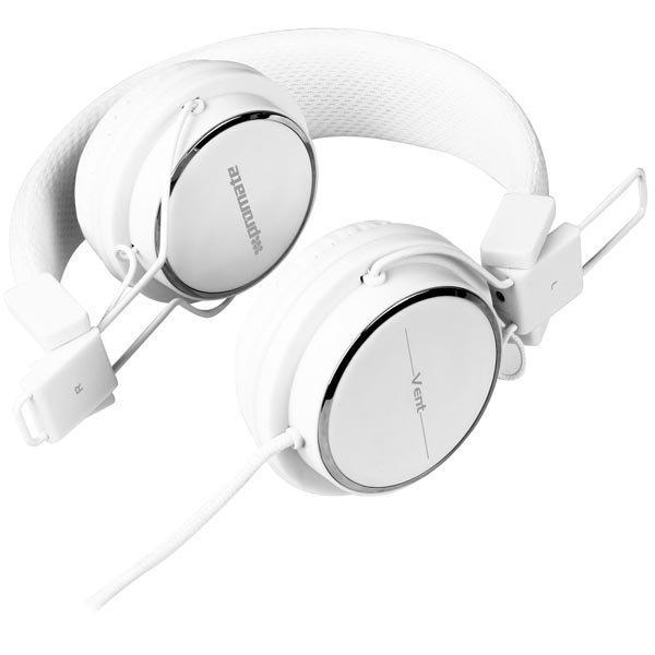 Promate Vent kokoontaitettavat kuulokkeet valkoiset