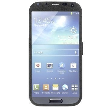 Puro Booklet Total View Kotelo Samsung Galaxy S4 I9500 I9505 I9502 Musta