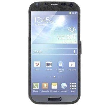 Puro Booklet Total View Kotelo Samsung Galaxy S4 I9500 I9505 I9502 Musta