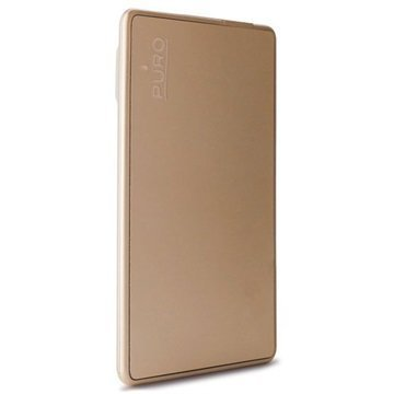 Puro Ultra-Slim Universal External Battery / Power Bank Gold