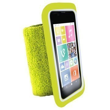 Puro Universal Running Wristband 5.1 Lime Green