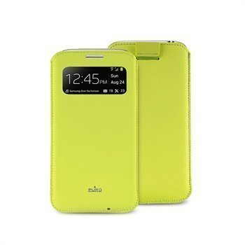 Puro View Leather Case Samsung Galaxy S4 Mini I9190 I9192 I9195 Green