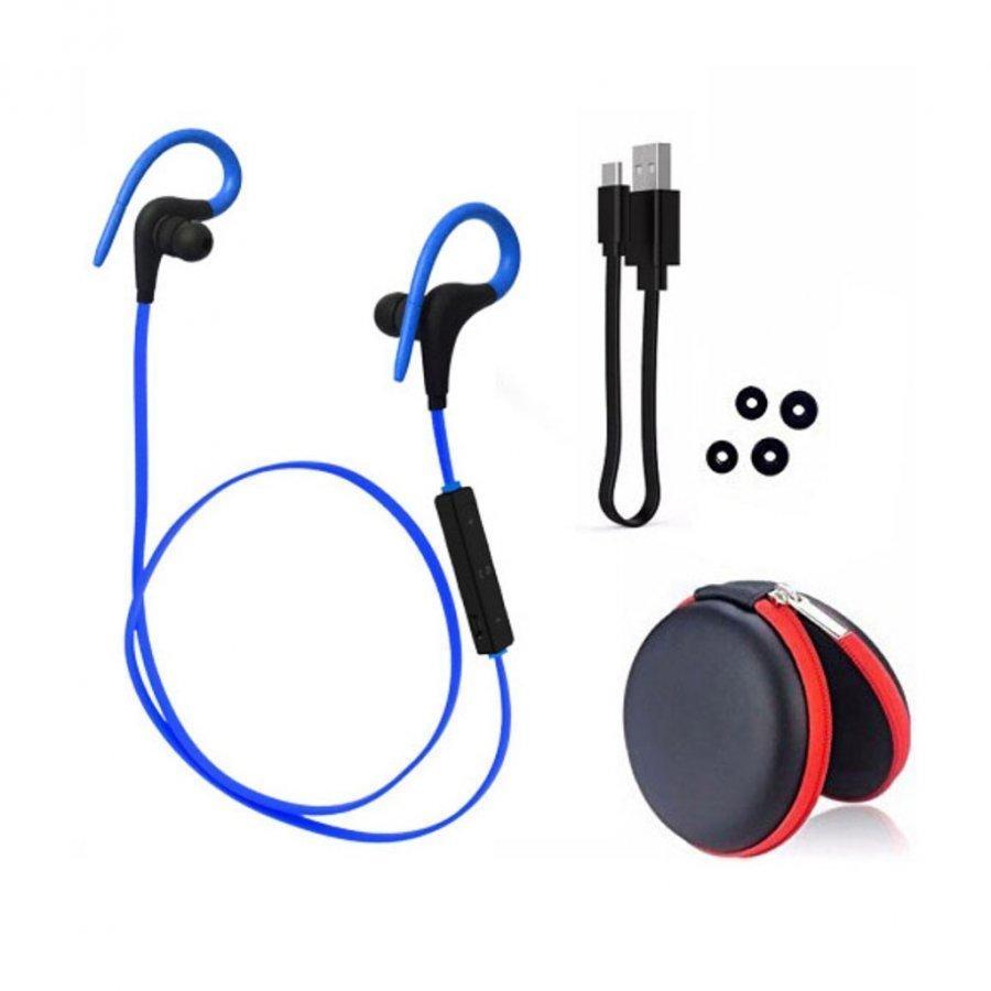 Q10 Langaton Bluetooth Kuuloke Kaukosäätimellä Sininen