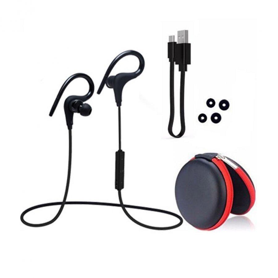 Q10 Langaton Bluetooth Kuulokkeet Kaukosäätimellä Musta