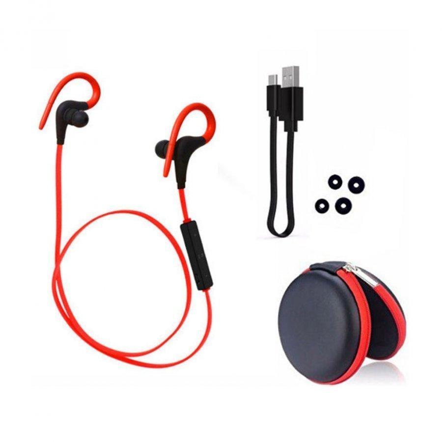 Q10 Langaton Bluetooth Kuulokkeet Kaukosäätimellä Punainen