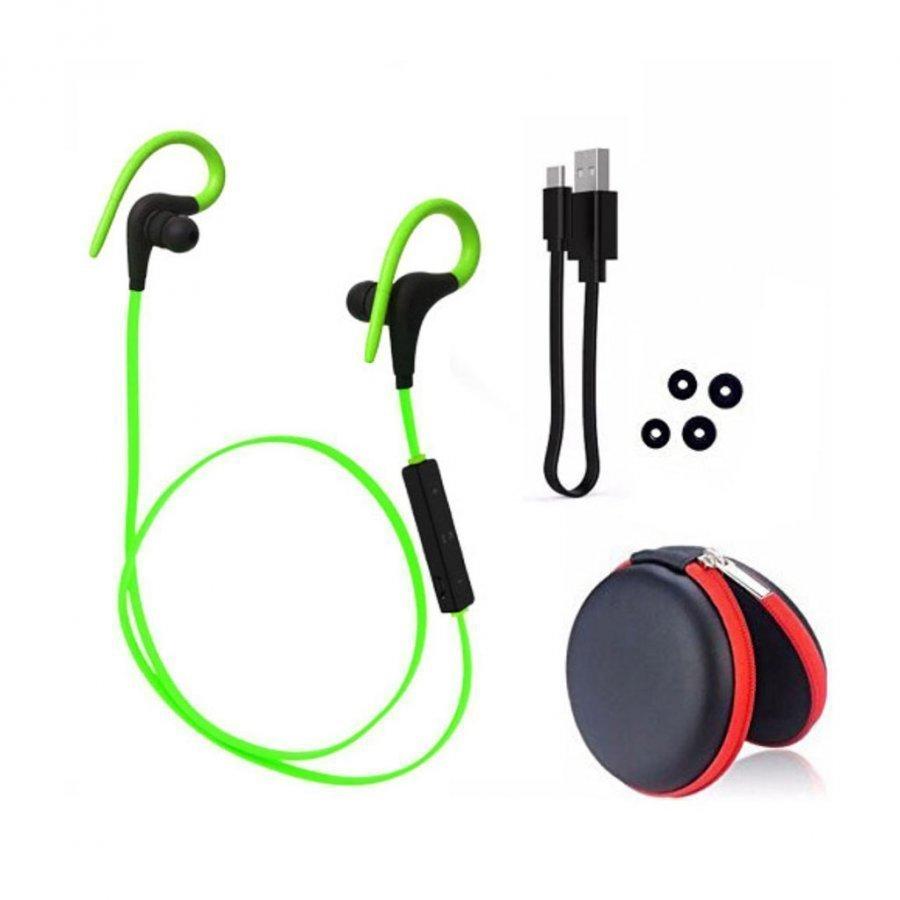 Q10 Langaton Bluetooth Kuulokkeet Kaukosäätimellä Vihreä