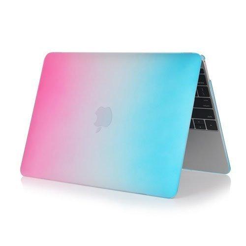 Rainbow Macbook 12-Inch Retina 2015 Suojakuoret Kuuma Pinkkiki / Sininen
