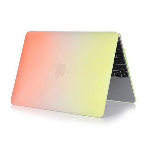 Rainbow Macbook 12-Inch Retina 2015 Suojakuoret Oranssi / Keltainen