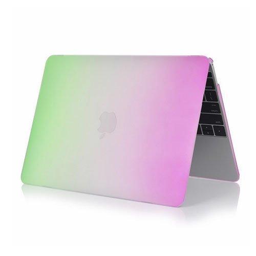 Rainbow Macbook 12-Inch Retina 2015 Suojakuoret Vihreä / Violetti