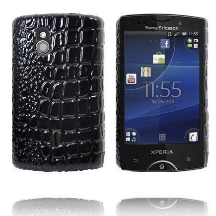 Raptor Musta Sony Ericsson Xperia Mini Pro Suojakuori