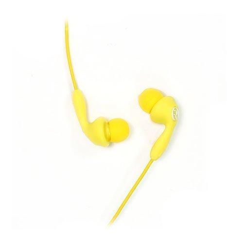 Remax 505 Karkki Johto Korvanappikuulokkeet Mikrofonilla Matkapuhelimille Keltainen