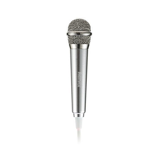 Remax Rmk-K01 Universaali Kädessä Pidettävä Karaoke Mikrofoni Hopea