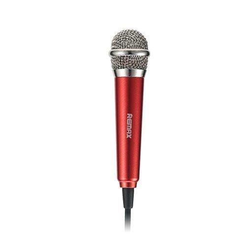Remax Rmk-K01 Universaali Kädessä Pidettävä Karaoke Mikrofoni Punainen