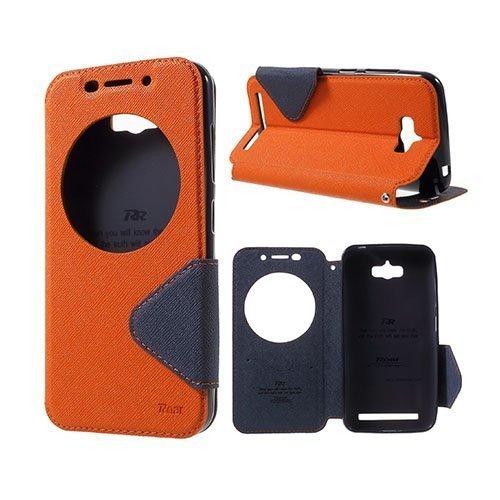 Roar Korea Asus Zenfone Max Zc550kl Nahkakotelo Ikkunalla Oranssi