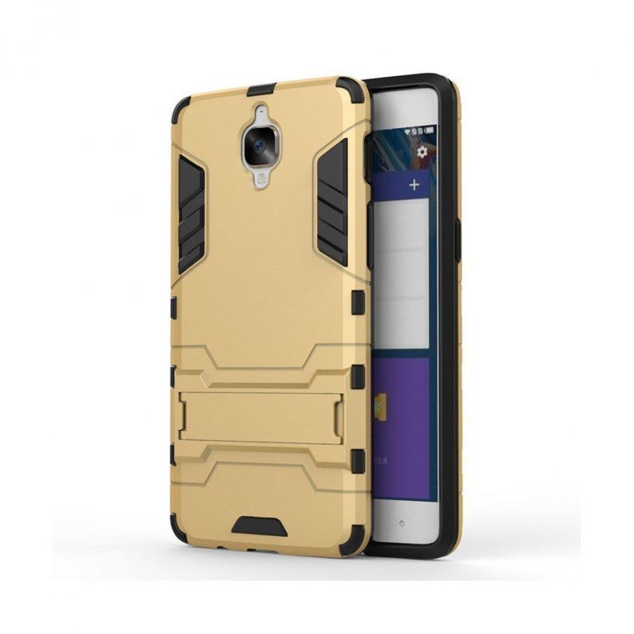 Rollo Oneplus 3 Yhtenäinen Hybridi Kuori Kulta