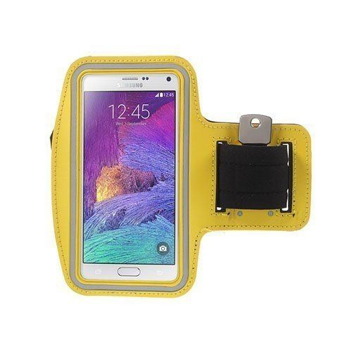 Running Sports Armband For Smartphones 160x85mm Yellow