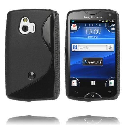 S-Line Musta Sony Ericsson Xperia Mini Suojakuori