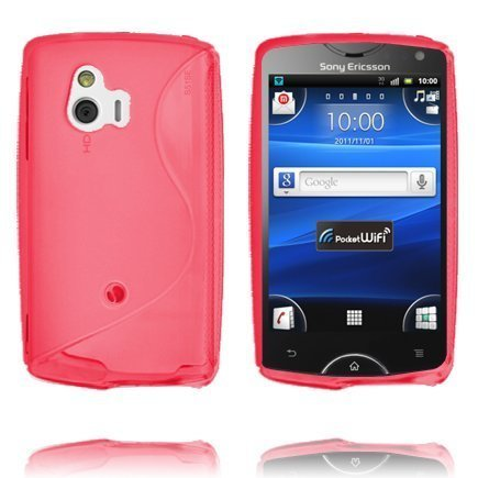 S-Line Punainen Sony Ericsson Xperia Mini Suojakuori