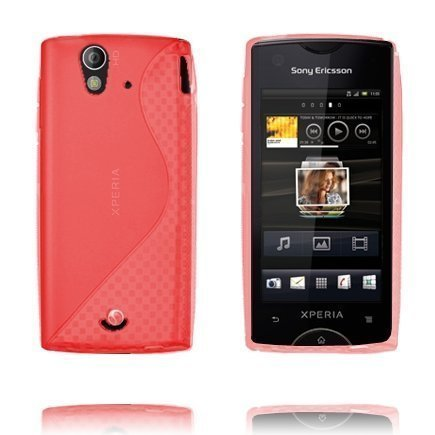 S-Line Punainen Sony Ericsson Xperia Ray Suojakuori