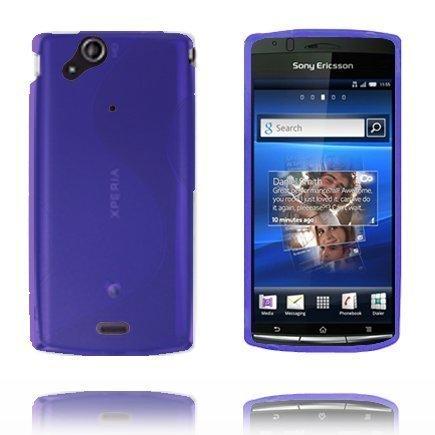 S-Line Sininen Sony Ericsson Xperia Arc Suojakuori