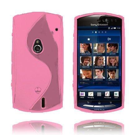 S-Line Vaaleanpunainen Sony Ericsson Xperia Neo Suojakuori