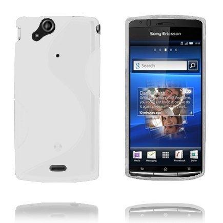 S-Line Valkoinen Sony Ericsson Xperia Arc Suojakuori