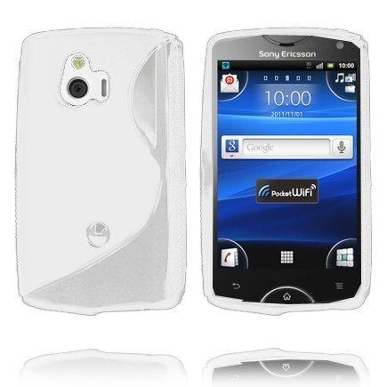 S-Line Valkoinen Sony Ericsson Xperia Mini Suojakuori