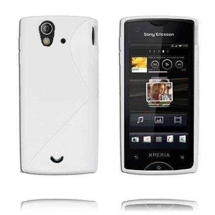 S-Line Valkoinen Sony Ericsson Xperia Ray Suojakuori