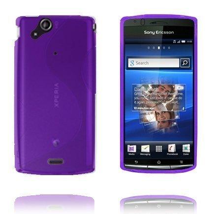 S-Line Violetti Sony Ericsson Xperia Arc Suojakuori