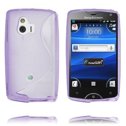 S-Line Violetti Sony Ericsson Xperia Mini Suojakuori