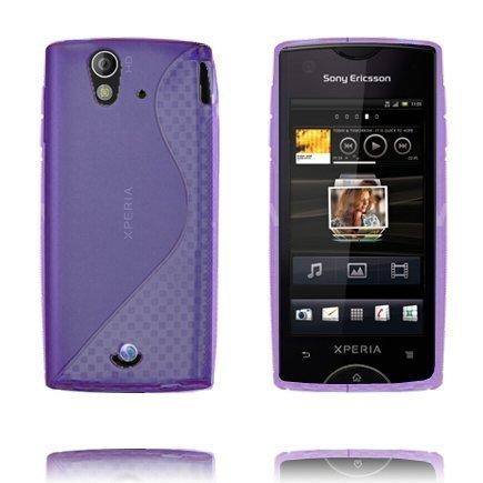 S-Line Violetti Sony Ericsson Xperia Ray Suojakuori