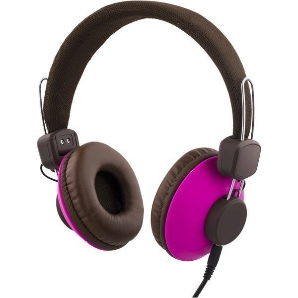 STREETZ Headset mikrofonilla vastuauspainike 1 3m ruskea/vaal-puna