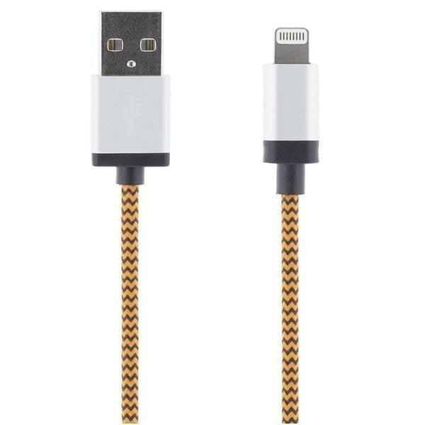 STREETZ USB-synk-/lalatauskaapeli iPod iPhone iPad MFI 1m oranssi