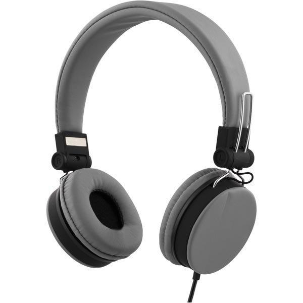 STREETZ headset iPhonelle mikrofoni noisecancelling 1 5m harmaa