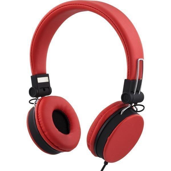 STREETZ headset iPhonelle mikrofoni noisecancelling 1 5m punainen