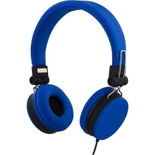 STREETZ headset iPhonelle mikrofoni noisecancelling 1 5m sininen