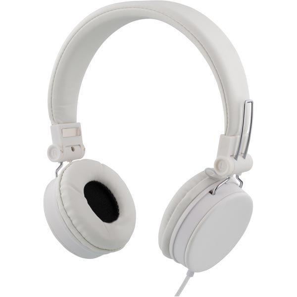 STREETZ headset iPhonelle mikrofoni noisecancelling 1 5m valkoinen