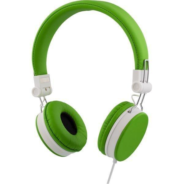 STREETZ headset iPhonelle mikrofoni noisecancelling 1 5m vihreä