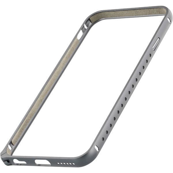STREETZ iPhone 6 alumiini bumper matta pinta harmaa