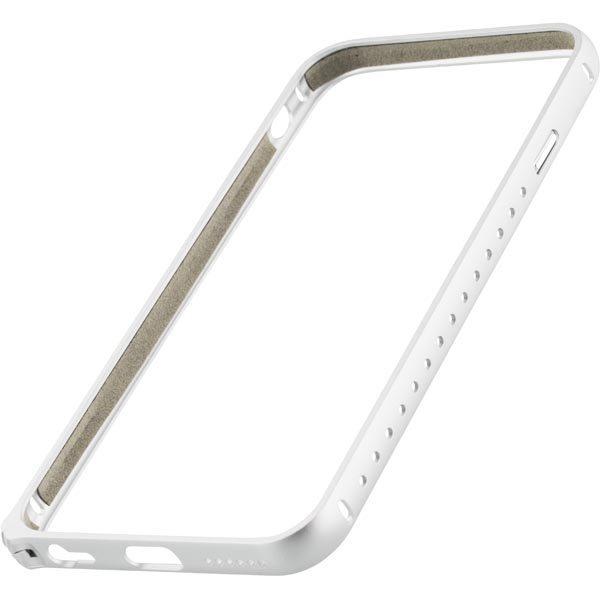 STREETZ iPhone 6 alumiini bumper matta pinta hopea