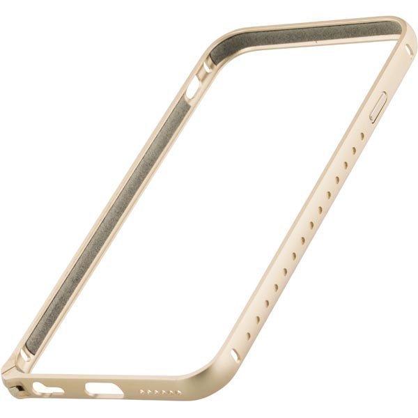 STREETZ iPhone 6 alumiini bumper matta pinta kullan värinen