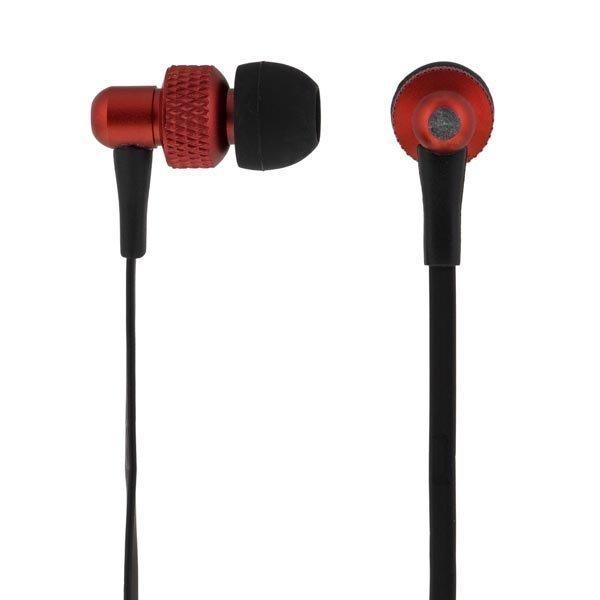 STREETZ in-ear kuulokkeet mikrofoni vastausnappi 1 2m kaap punmus