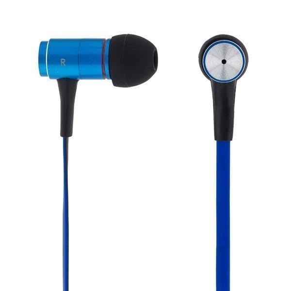 STREETZ in-ear kuulokkeet mikrofoni vastausnappi 1 2m kaap sininen
