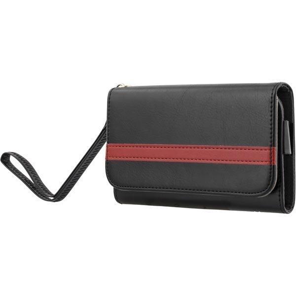 """STREETZ lompakkokuori 4-5 1:n-älypuhelimiin musta/punainen"""""""