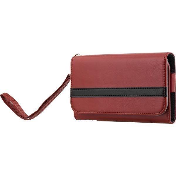 """STREETZ lompakkokuori 4-5 1:n-älypuhelimiin punainen/musta"""""""