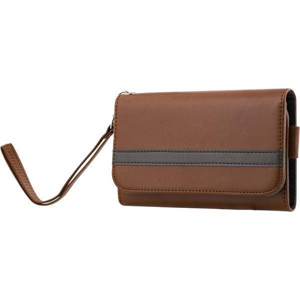 """STREETZ lompakkokuori 4-5 1:n-älypuhelimiin ruskea"""""""