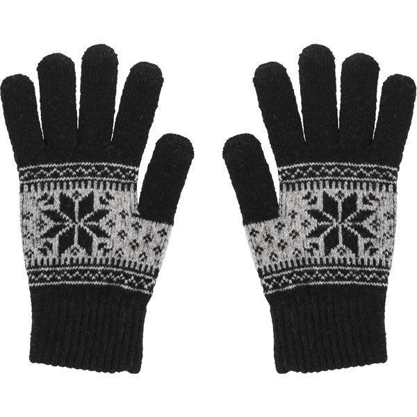 STREETZ sormikkaat kosketusnäytöille large musta