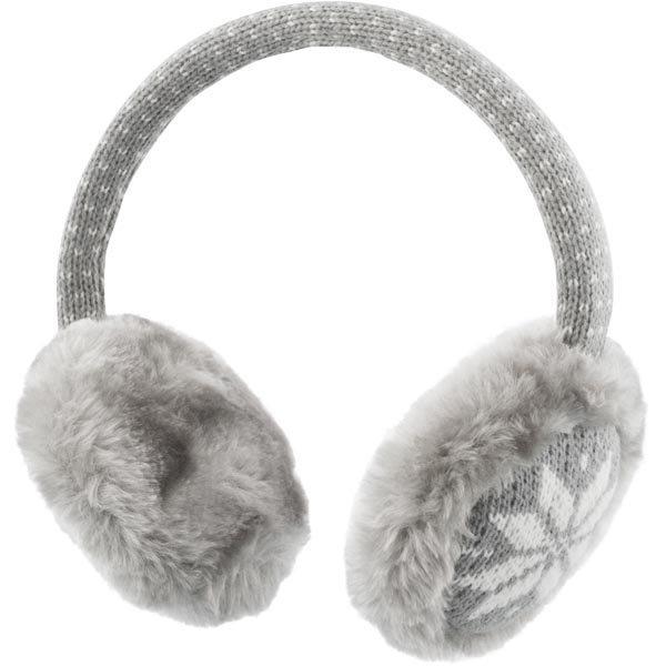 STREETZ tygklädda hörlurar med mikrofon 1 2m kabel grå/vit