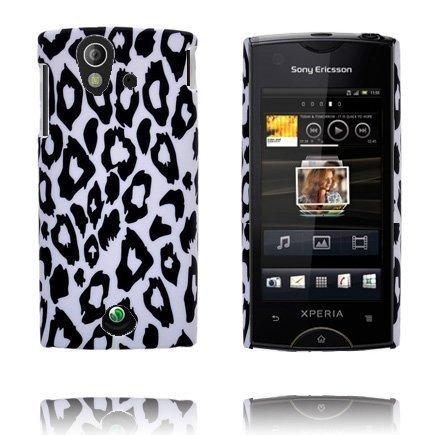 Safari Fashion Valkoinen Leopardi Sony Ericsson Xperia Ray Suojakuori